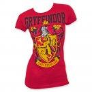 Harry Potter Women's Gryffindor Logo Tee Shirt Red