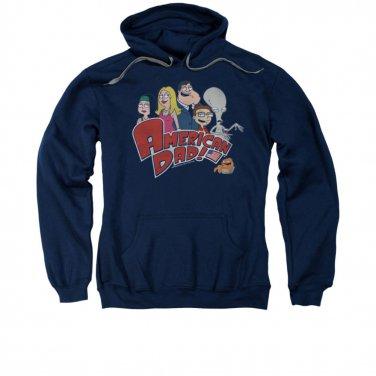 American Dad Logo Pullover Hoodie Blue