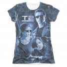 The Terminator 2 Protector And Hunter Sublimation Juniors T-Shirt White