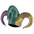 Mardi Gras Party Sequin Jester Costume Hat Purple