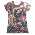 Aquaman Vs. Manta Sublimation Juniors T-Shirt White
