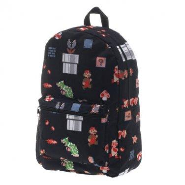 Nintendo Sublimated Mario Backpack Black