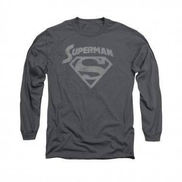 Superman Arch Long Sleeve T-Shirt Gray