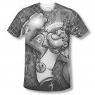 Popeye Spinach King Sublimation T-Shirt Black