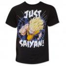 Men's Dragon Ball Z Just Saiyan Tee Shirt Black