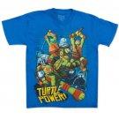 TMNT Turtle Power Boys 8-20 T-Shirt Blue