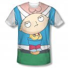 Family Guy Peter Stewie Carrier Costume Sublimation T-Shirt White