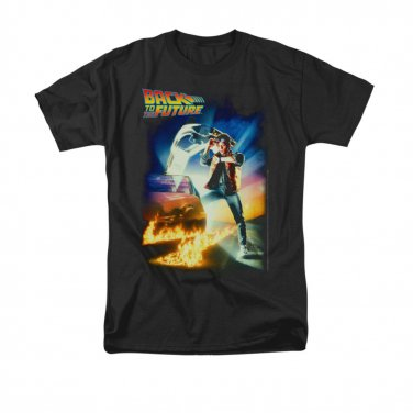 Back To The Future Men's Movie Poster Tee Shirt Black