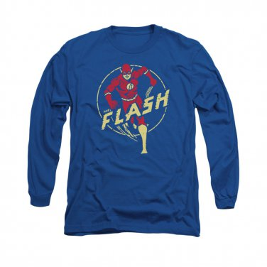 The Flash Circle Comics Long Sleeve T-Shirt Blue
