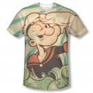 Popeye Traveling Man Sublimation T-Shirt Beige
