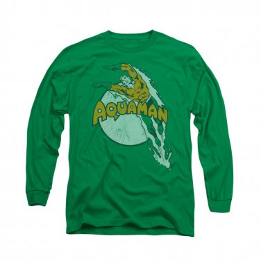 Aquaman Splash Long Sleeve T-Shirt Green