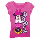 Disney Minnie Mouse Girls 7-16 Oops Tee Shirt Pink