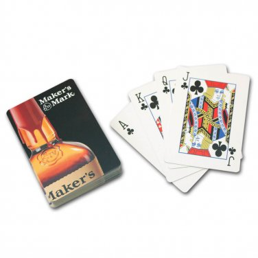 Makers Mark Logo Playing Cards Black