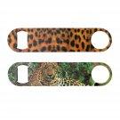 Leopard Print Bottle Opener Green