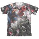 Batman v Superman Showdown Sublimation T-Shirt White