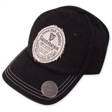 Guinness Gaelic Label Bottle Opener Hat Black