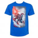 Marvel Captain America Cyclops Attack Tee Shirt Blue