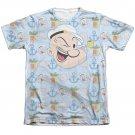 Popeye Symbols Sublimation T-Shirt White
