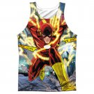 The Flash Police Line Sublimation Tank Top Red