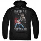 Batman v Superman Hero Split Pullover Hoodie Black