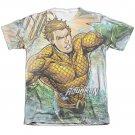 Aquaman Rough Seas Sublimation T-Shirt White
