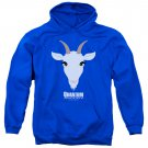 Quantum And Woody Goat Head Pullover Hoodie Blue