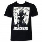 Joker White Card Tee Shirt Black