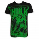 Hulk Green On Subway Tee Shirt Black