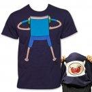 Adventure Time Finn Flip-Up Reversible TShirt Blue