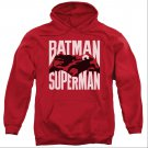 Batman v Superman Silhouette Fight Pullover Hoodie Red