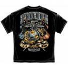 Men's US Marine Corp Failure Is Not An Option Shirt Black