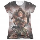 Batman v Superman Wonder Woman Light Sublimation Juniors T-Shirt White