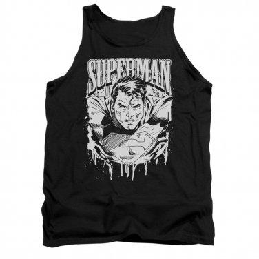 Superman Super Metal Tank Top Black