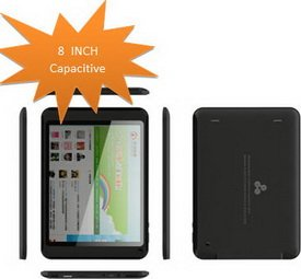 SBJ810 - 8 Inch Tablet PC with Capacitive Rockchip 2918 1.3Ghz