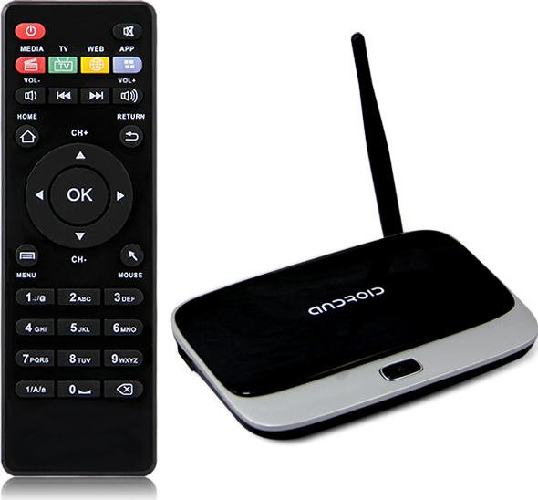 CS918 Quad Core DLAN Smart TV Box Media Player WiFi 3D 1080P 2GB 8GB XBMC Youtube