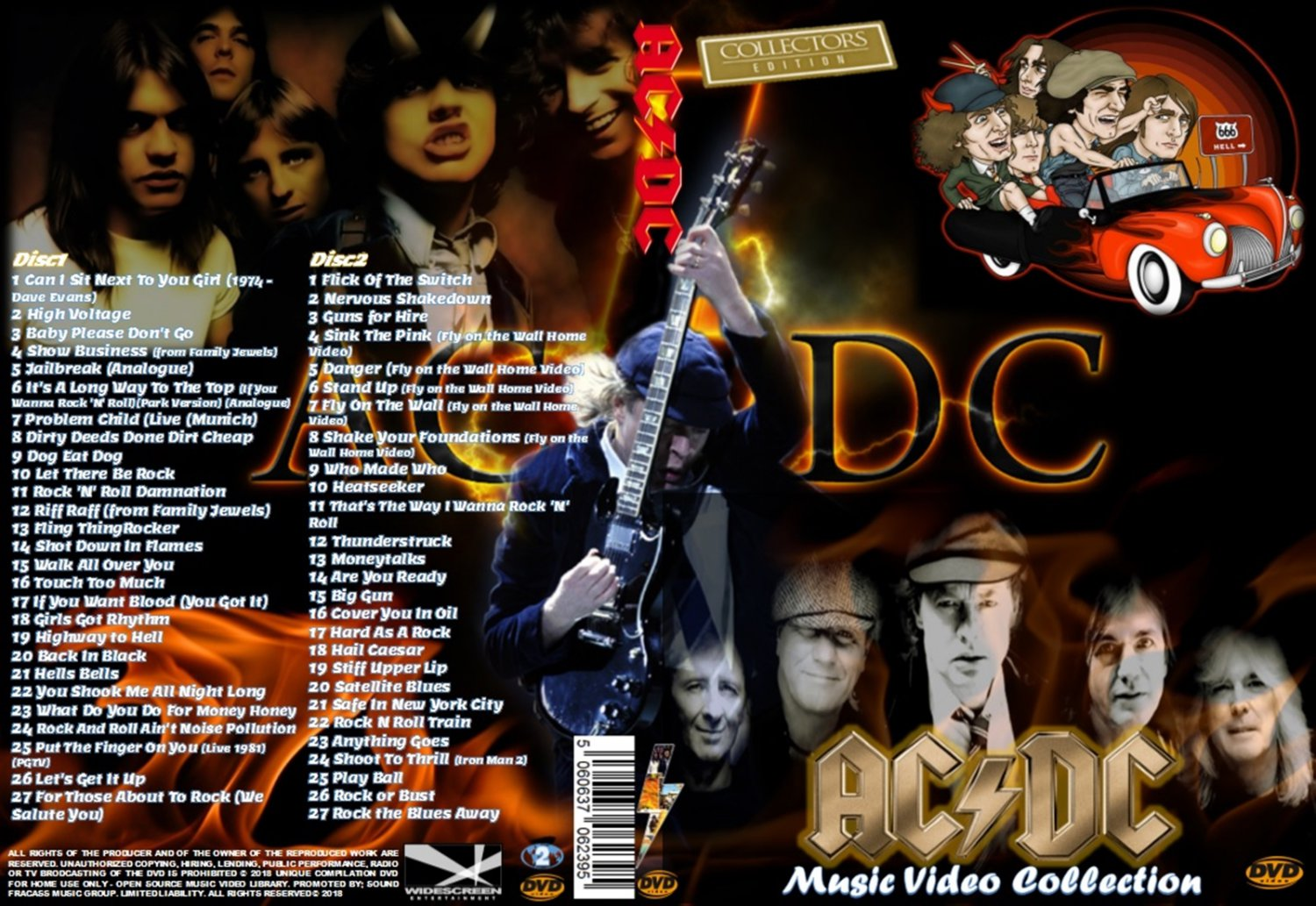 AC/DC Music Video Collector�s Edition Box-set 2DVDs