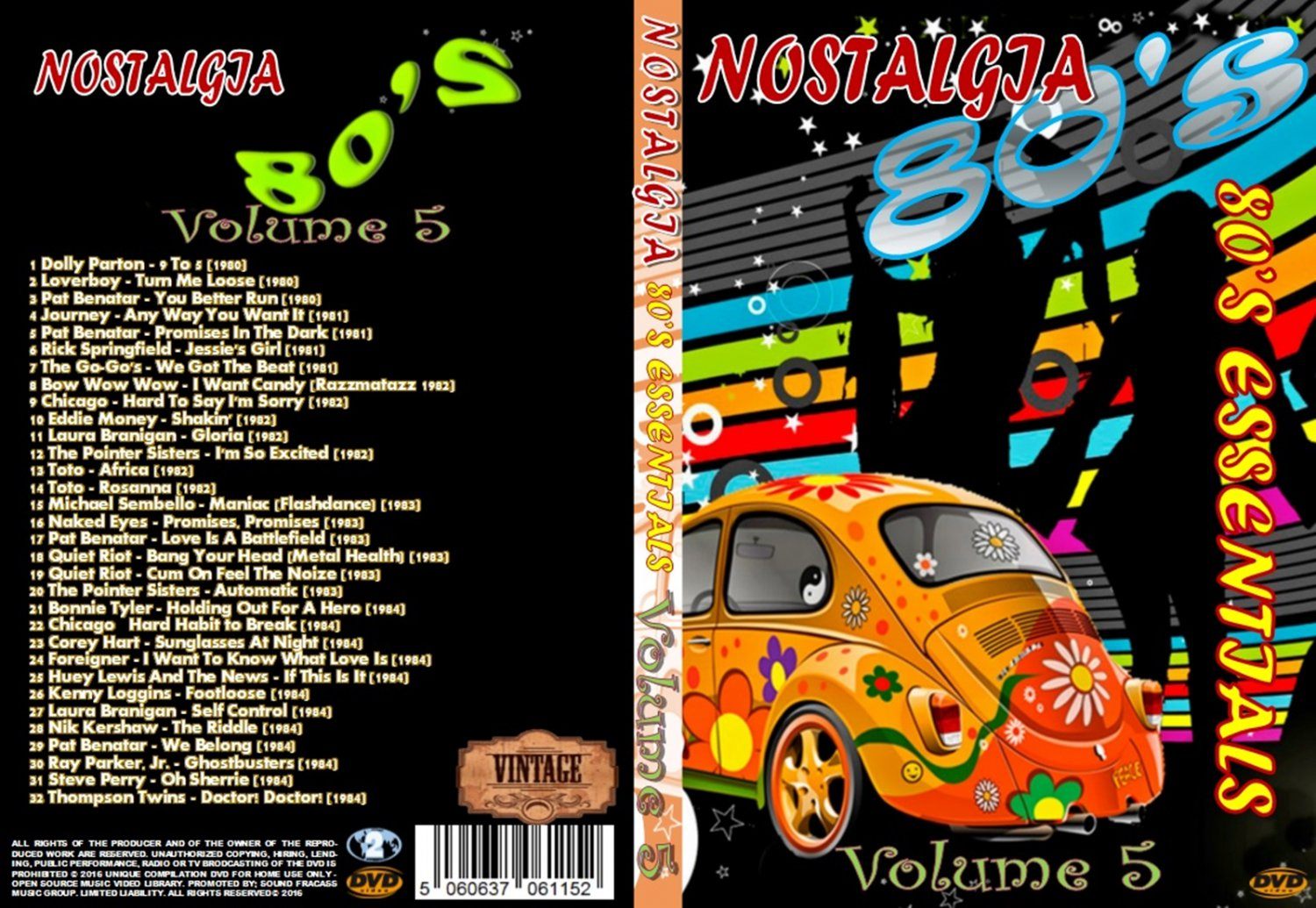 Nostalgia V5 80s Essentials Music Video DVD