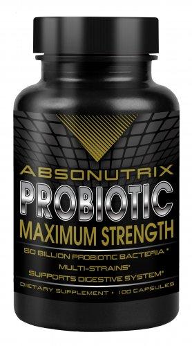 Absonutrix Probiotic Max live 50 Billion Per Capsule Multi Strains 100 Capsules