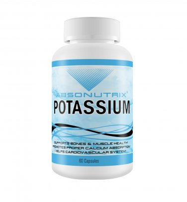 Absonutrix Potassium 250mg supports bone muscle health and calcium absorption