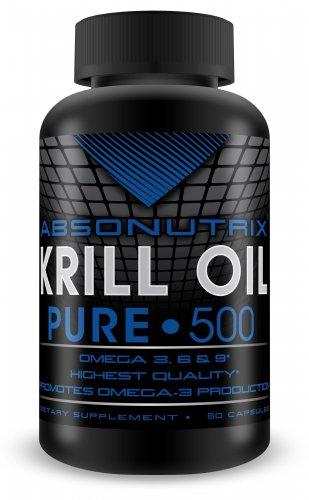 60 SG Absonutrix Krill Oil Pure 500mg Each Omega 3,6+9