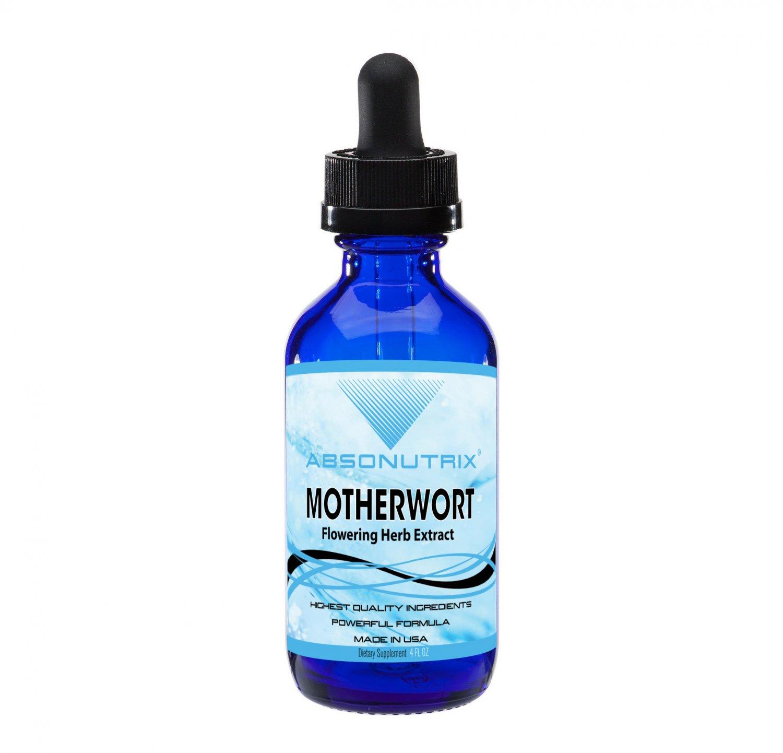 Absonutrix Motherwort Flowering Herb Extract   4 oz Big Bottle 120 Days Supply