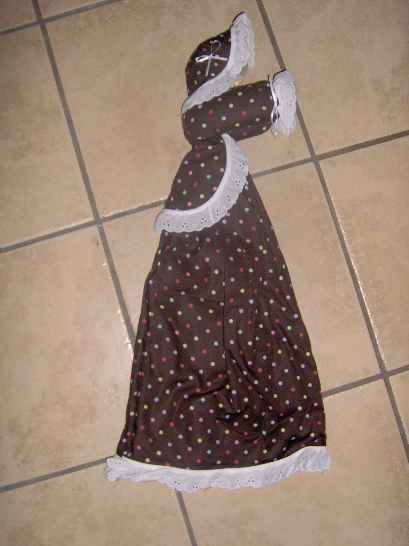 Grocery Bag Lady - pastel dots