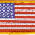 U.S. Flag Patch with Gold Border