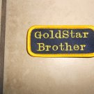 Handmade Embroidered Gold Star Brother Patch