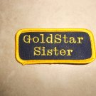 Handmade Embroidered Sister Gold Star Patch