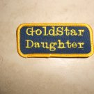 Handmade Embroidered Gold Star Daughter Patch