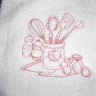 Embroidered Hand Towel - Kitchen Utensils