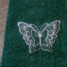 Embroidered Hand Towel - Butterfly