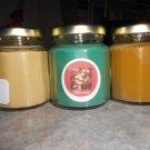 Lot of 3 6.5oz Candles-Olive Tree, Cappaccino Mocha & Banana Nut Bread