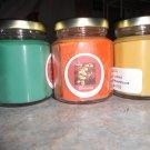 Lot of 3 6.5oz Candles-Olive Tree, Bird of Paradise & Vanilla